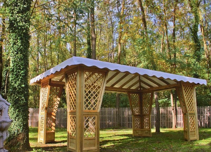 Dove comprare gazebo in legno con copertura rigida for Gazebo legno arredamento