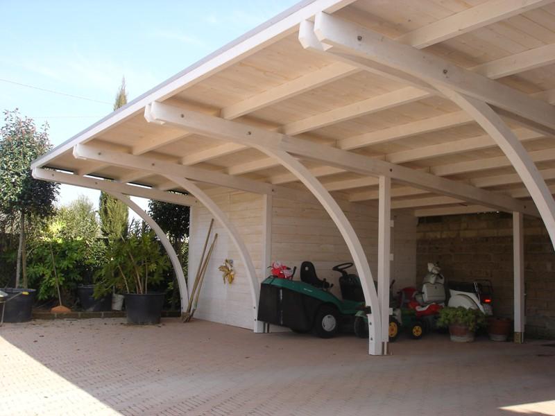 Barsotti legnami vendita carport garage in legno car box for Carports online