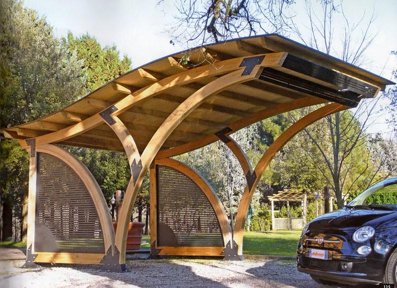 Barsotti legnami vendita carport garage in legno car box for Coperture in legno per auto usate